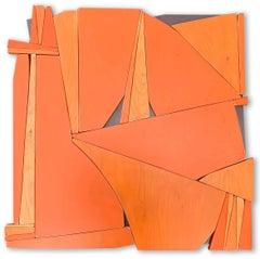 """Scott Troxel """"Tiki IV"""" Abstract Wood Wall Sculpture"""