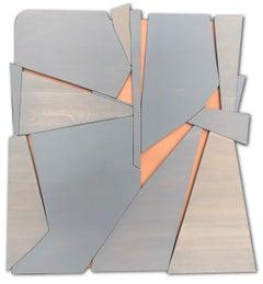 "Scott Troxel ""Zephyr"" Abstract Wood Wall Sculpture"