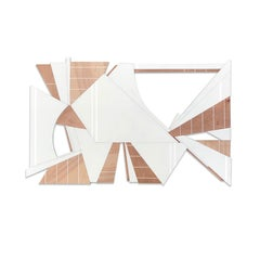 Terebellum (Wyatt Khan off-white wood abstract wall Frank Stella geometric art)