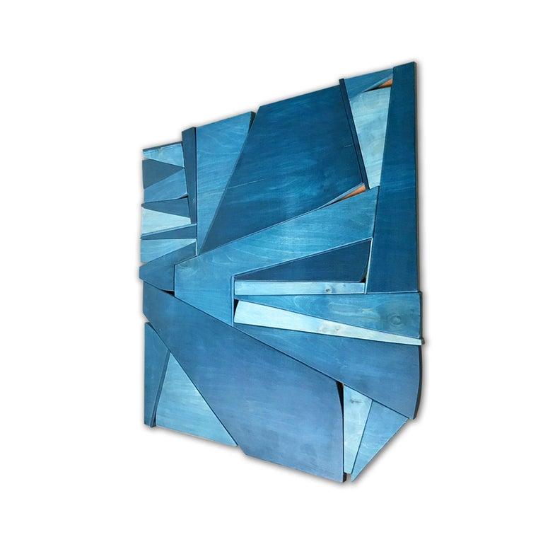 Denim - Minimalist Sculpture by Scott Troxel