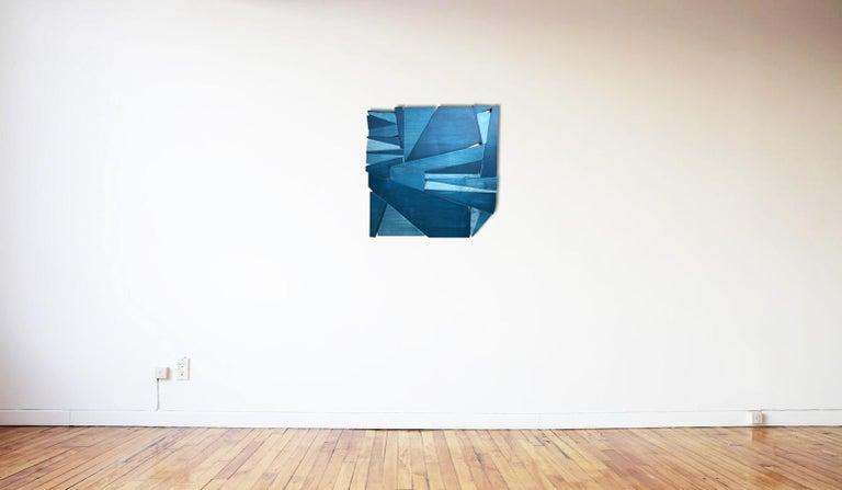 Denim - Brown Abstract Sculpture by Scott Troxel