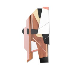 Leto (modern abstract wall sculpture minimal geometric wood art design neutrals)