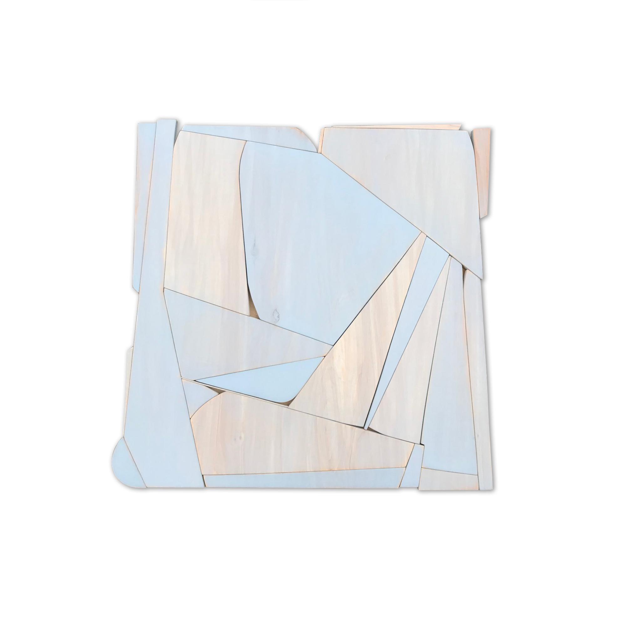 Myrtle II (modern abstract wall sculpture minimal geometric design neutrals)