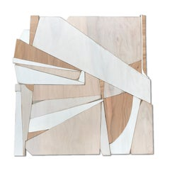 Natural Mystic (modern abstract wall sculpture minimal geometric design neutrals