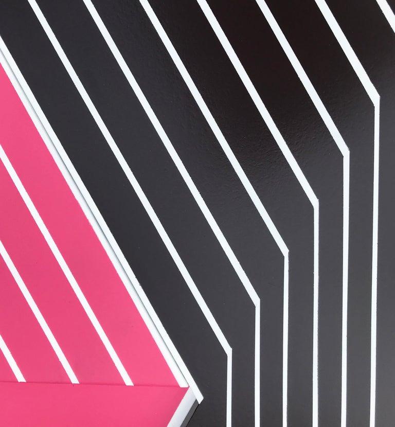 Oculus 7 (modern abstract wall sculpture minimal geometric design Frank Stella) - Modern Mixed Media Art by Scott Troxel
