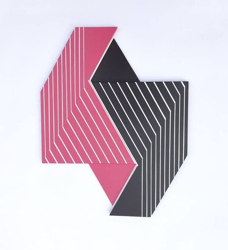Oculus 7 (modern abstract wall sculpture minimal geometric design Frank Stella) - Mixed Media Art by Scott Troxel