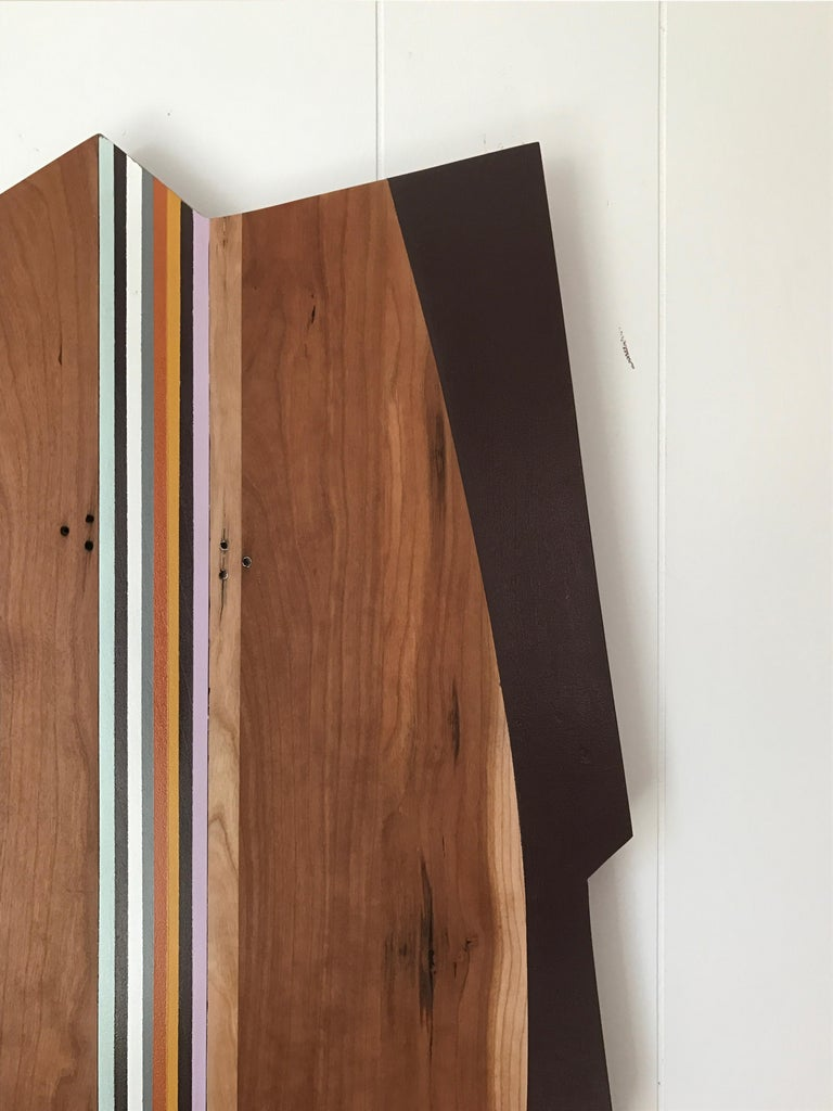 Sea Harp (modern abstract wall sculpture minimal design neutrals natural wood) - Modern Mixed Media Art by Scott Troxel