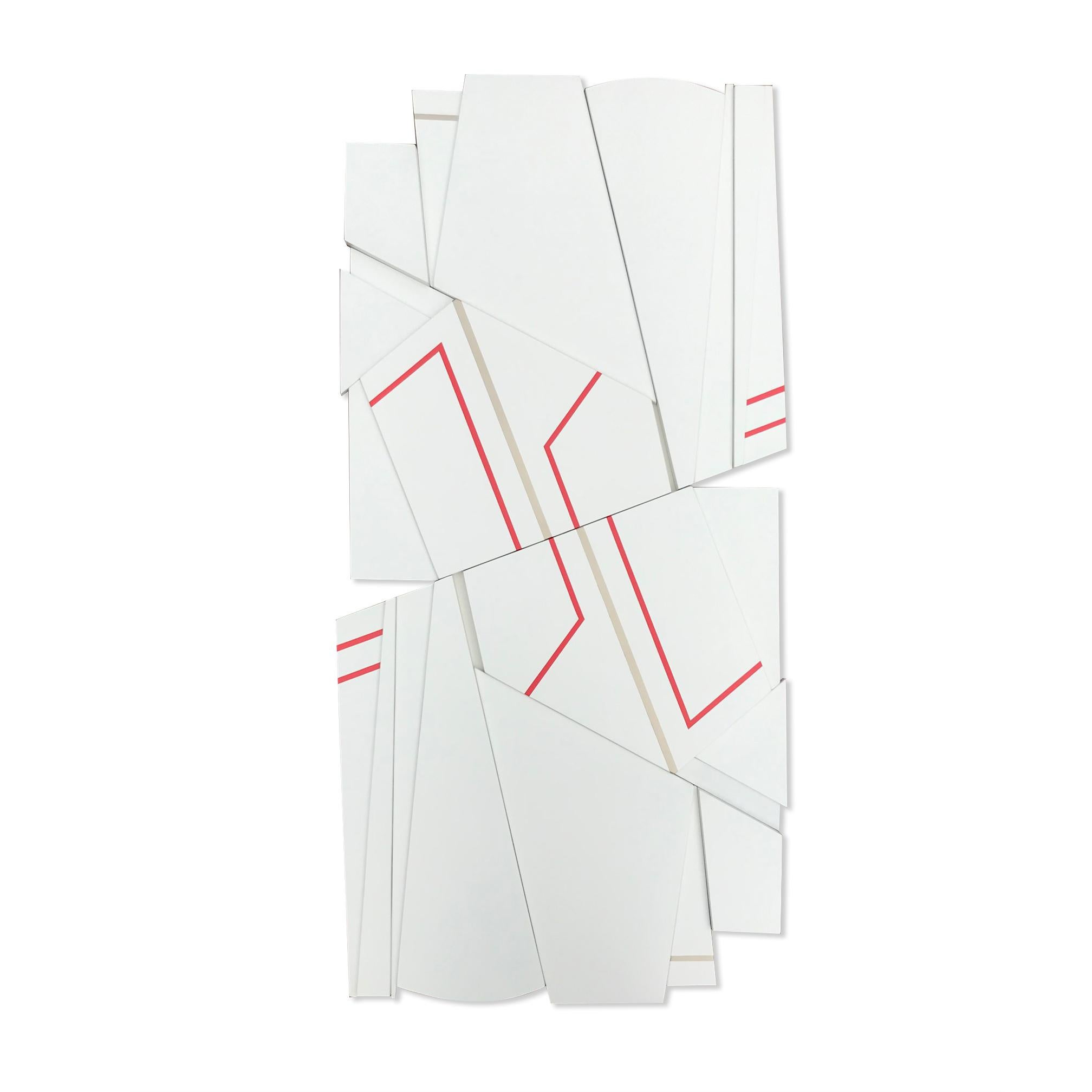 Tonka 2 (wood modernism wall sculpture minimal geometric modern ivory cream