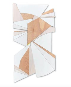 Trapeze (wood, modernism wall sculpture, minimal geometric, modern design)