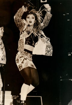 Young Madonna Performing in Sepia Vintage Original Photograph