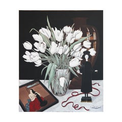 """""""Still Life With Tulips"""" Contemporary Realist Art Historical Still Life Painting"""