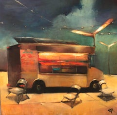 Taco Truck with Chairs