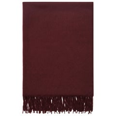 Scottish 100% Cashmere Shawl in Burgundy