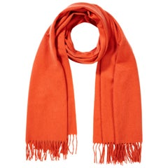 Scottish 100% Cashmere Shawl in Orange