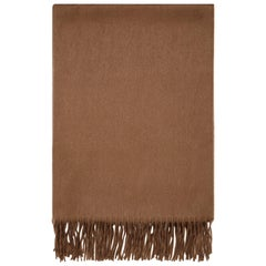 Scottish 100% Cashmere Shawl in Soft Brown