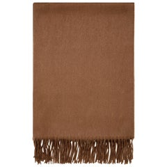 Scottish 100% Cashmere Shawl in Soft Brown - Brand New