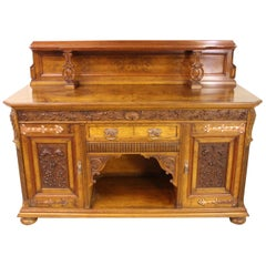 Scottish 19th Century Victorian Burr Walnut Sideboard
