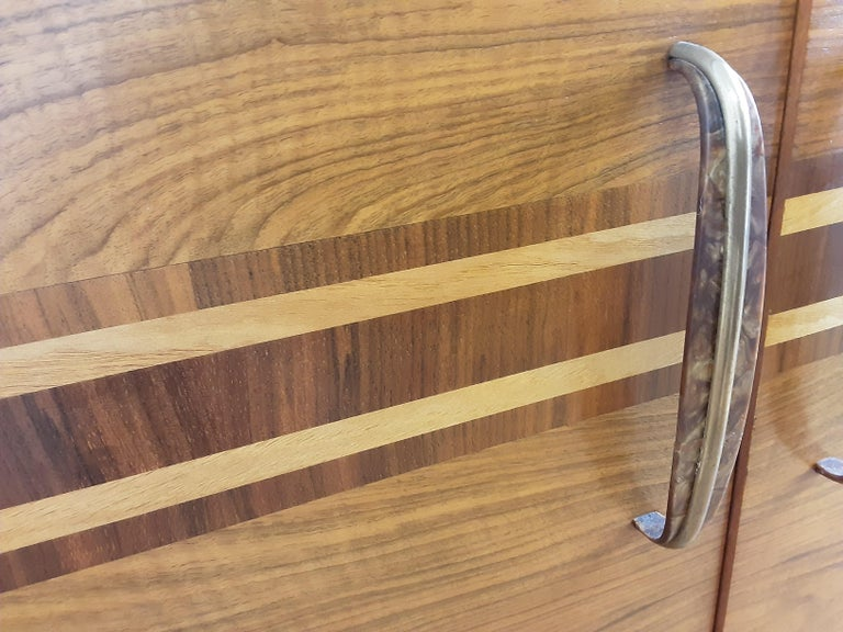 Scottish Art Deco Sideboard in a Golden Brown Walnut with a Modernist Design For Sale 6