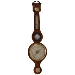 Scottish Banjo Wheel Barometer of circa 1810 in Mahogany