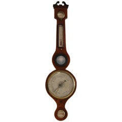 Scottish Banjo Wheel Barometer of circa 1810 in Mahogany