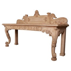 Scottish Bleached Oak Console Table