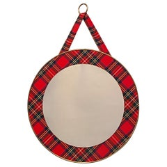 Scottish Clan Tartan Frame Wall Mirror, Germany, 1960s