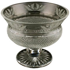 Scottish Cut Crystal Bowl, 20th Century