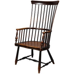 Scottish Darvel Comb Back Windsor Armchair by Hugh Shields