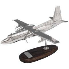 Scottish Fisheries Sterling Silver Plane Model Fokker F27-200 Hallmarked 1987