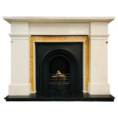 Scottish Georgian 19th Century 1830 Statuary Marble Fireplace Surround