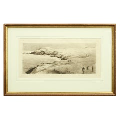 Scottish Golf Course, Cliff-Top Golf Course, Etching