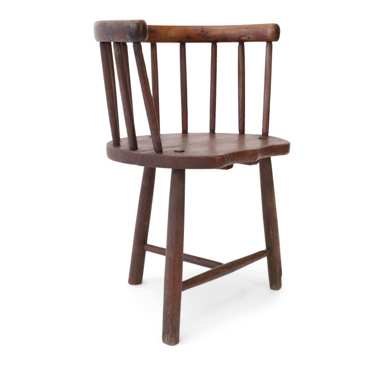 Scottish Horseshoe Back Chair For Sale 5