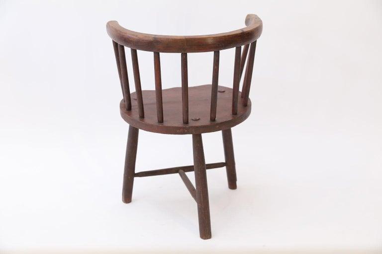 Folk Art Scottish Horseshoe Back Chair For Sale
