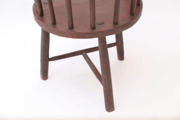 19th Century Scottish Horseshoe Back Chair For Sale
