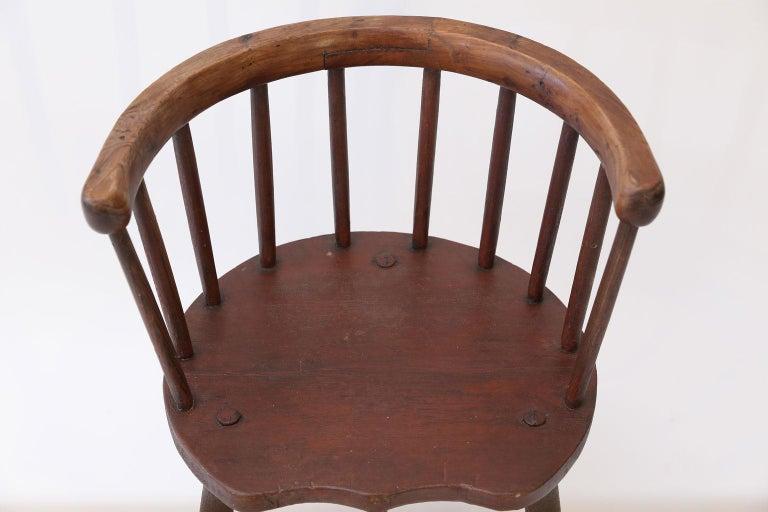 Scottish Horseshoe Back Chair For Sale 1