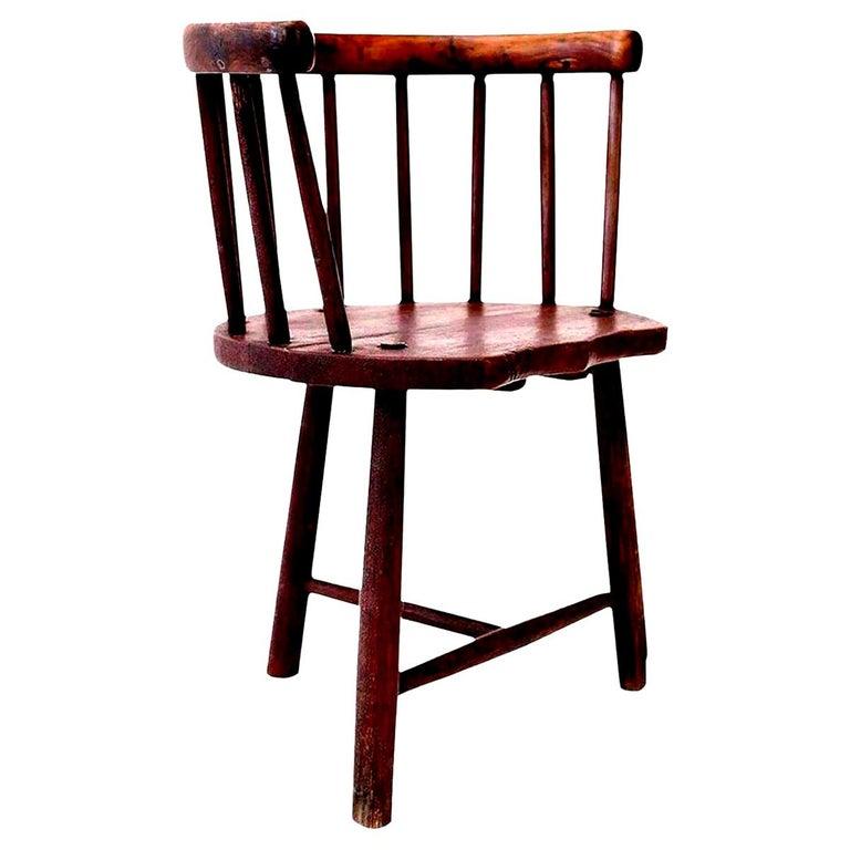 Scottish Horseshoe Back Chair For Sale 6
