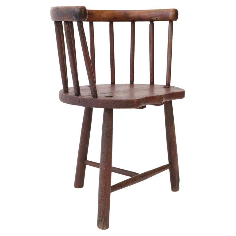 Scottish Horseshoe Back Chair For Sale
