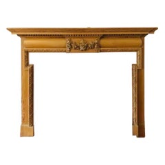 Scottish Late Victorian Carved Pine Fireplace Surround