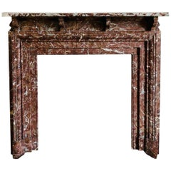 Scottish Late Victorian Languedoc Marble Bolection Marble Fireplace Surround
