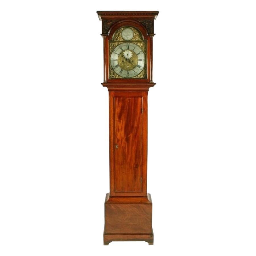 Scottish Mahogany Grandfather Clock, 18th Century