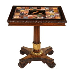Scottish Regency Parcel-Gilt Rosewood and Specimen Marble Table
