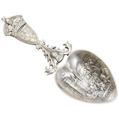 Scottish Sterling Silver Caddy Spoon, Antique George V, '1918'