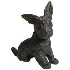 Scottish Terrier Puppy Novelty Inkwell, circa 1920 - Dog