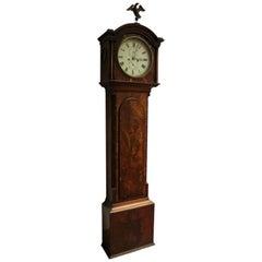 Scottish Victorian Mahogany Grandfather Clock by John Gillan, circa 1837