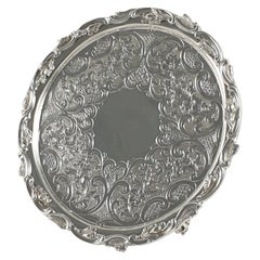 Scottish Victorian Sterling Silver Salver, Marshall & Sons