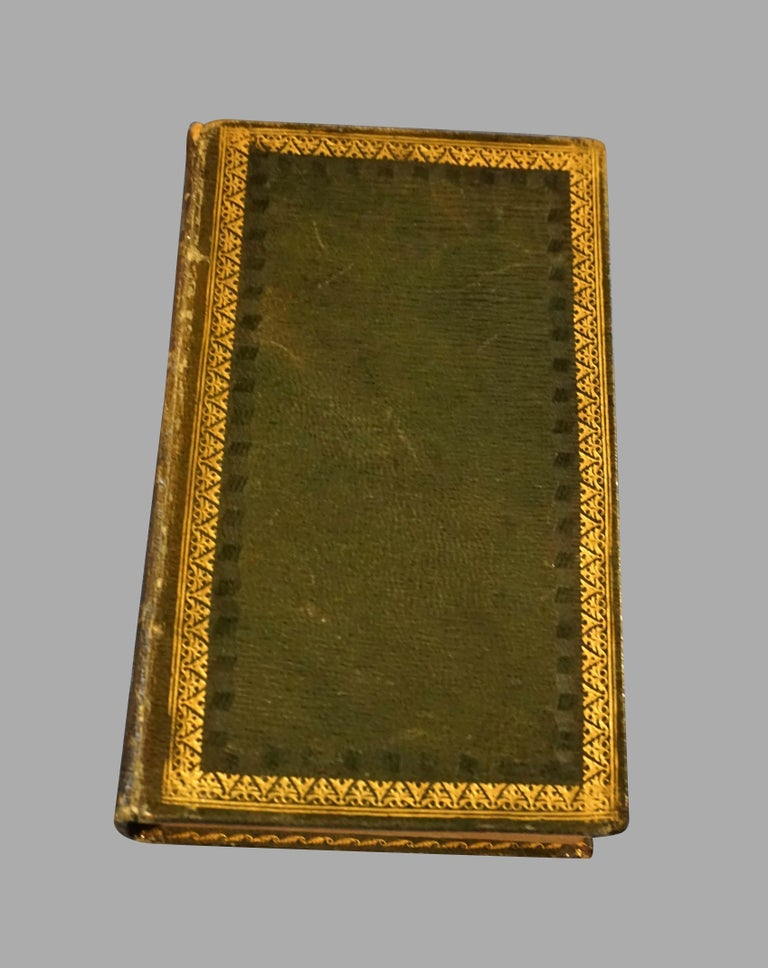 The complete works of Sir Walter Scott in 42 volumes, including such classics as Rob Roy, Woodstock, etc. Full green leather binding with gilt-tooling and raised spines, all edges gilt. Bookplates of former owner. Published 1822-1825 by Archibald,