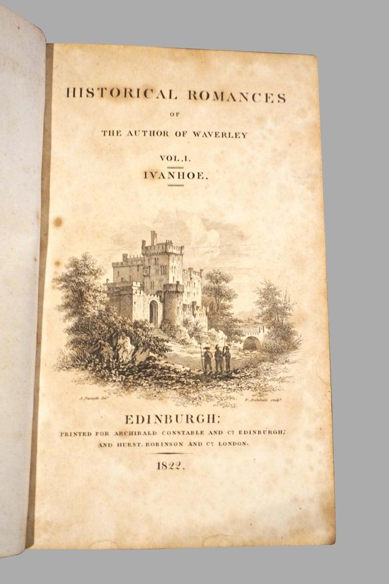 Regency Scott's Historical Works Novels and Romances Full Leather Bindings in 42 Volumes For Sale