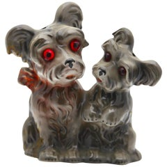 Scotty Dog Pups Perfume Lamp by Carl Scheidig/Gräfenthal, Germany, 1930s