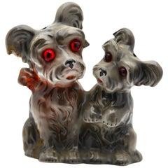Scotty Dog Pups Perfume Lamp by Carl Scheidig/Gräfenthal, Germany, 1930s