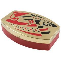 Scovill Art Deco Abstract Geometric Decorative Jewelry or Vanity Tin Box